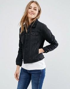 Джинсовая куртка с искусственной овечьей шерстью Pepe Jeans Ella - Черный
