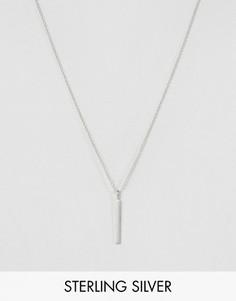 Серебряное ожерелье с минималистичной подвеской Pieces & Julie Sandlau Juna - Серебряный