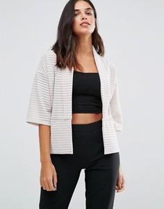 Пиджак с короткими рукавами Wal G - Бежевый