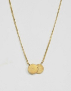 Ожерелье с двойной круглой подвеской Made - Золотой