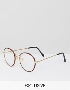 Очки с прозрачными стеклами Reclaimed Vintage Inspired - Коричневый