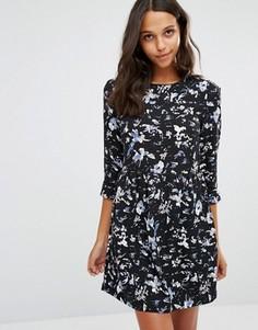 Короткое приталенное платье Suncoo Coste - Синий