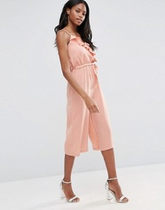 Комбинезон с юбкой-шортами и оборкой Influence - Розовый