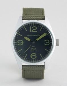 Зеленые часы с нейлоновым зеленым ремешком Racing - Зеленый