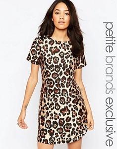 Цельнокройное платье со звериным принтом Glamorous Petite - Мульти