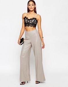 Широкие брюки с эффектом металлик ASOS - Золотой