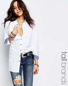Удлиненная белая рубашка Noisy May Tall - Белый