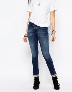 Зауженные джинсы с заниженной талией Diesel Livier - Синий