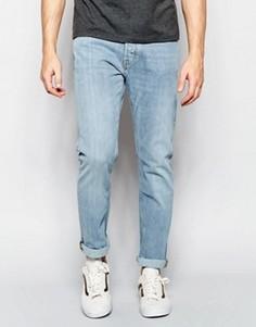 Светлые эластичные джинсы слим Weekday Wednesday - Синий