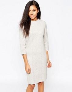 Платье-джемпер с рукавами 3/4 b.Young - Бежевый
