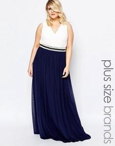 Платье макси в греческом стиле с отделкой Forever Unique Plus - Мульти