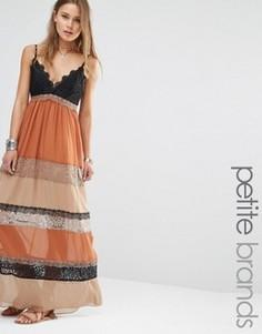 Платье макси с кружевными вставками Glamorous Petite - Мульти