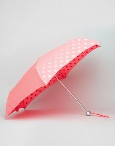 Легкий зонт с принтом в горошек Cath Kidston - Розовый