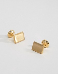 Однотонные золотистые запонки Noose & Monkey - Золотой