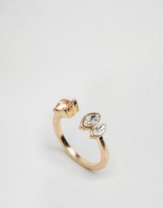 Незамкнутое кольцо с камнем ASOS - Розовый