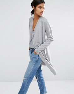 Пальто-накидка без подкладки Y.A.S Evita - Серый