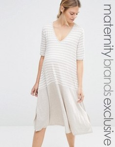Цельнокройное платье для беременных Bluebelle Maternity - Бежевый