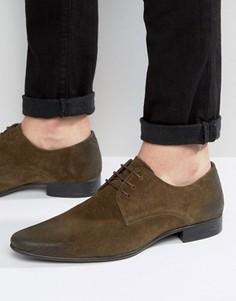 Зеленые замшевые туфли на шнуровке ASOS - Зеленый