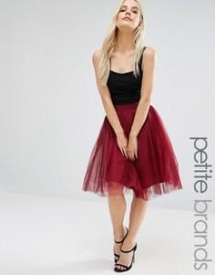 Тюлевое платье миди Boohoo Petite - Красный