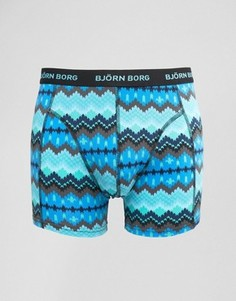 Боксеры-брифы с геометрическим принтом Bjorn Borg - Синий