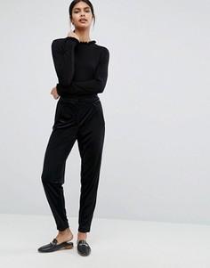 Бархатные брюки Y.A.S Clady - Черный