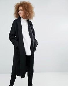 Длинное пальто Monki - Черный