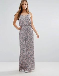 Платье макси с мозаичным принтом b.Young - Мульти