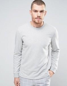 Свитшот с асимметричным краем Selected Homme - Серый