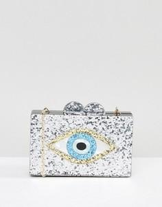 Клатч с блестками и отделкой глаз Фатимы Liquorish - Мульти
