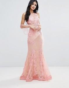 Кружевное платье макси Forever Unique - Розовый