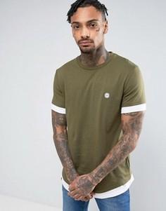 Удлиненная футболка Le Breve - Зеленый