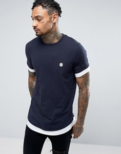 Удлиненная футболка Le Breve - Темно-синий