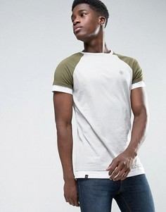 Длинная футболка с рукавами реглан Le Breve - Зеленый
