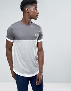 Длинная футболка со вставкой Le Breve - Серый
