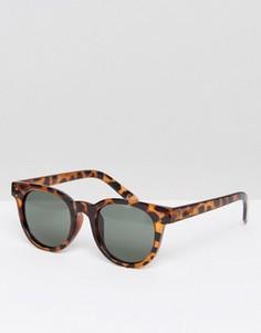 Солнцезащитные очки с черепеховой оправой Vans Welborn - Коричневый