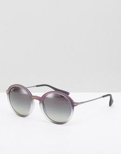 Солнцезащитные очки в круглой оправе Ray Ban - Серый