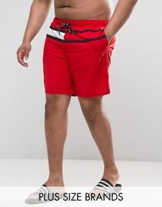 Красные шорты для плавания с флагом Tommy Hilfiger PLUS - Красный