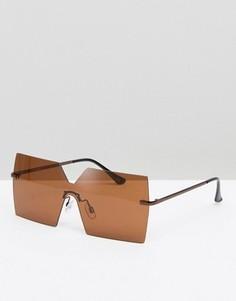 Квадратные солнцезащитные очки-маска ASOS - Медный