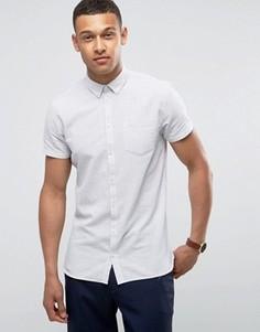 Белая рубашка узкого кроя на пуговицах с короткими рукавами Minimum Bellino - Белый