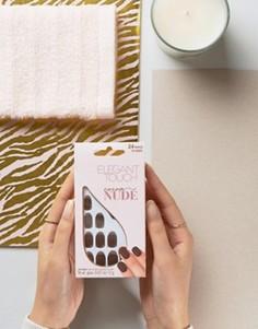 Накладные ногти Elegant Touch Nude Collection Squoval - Коричневый