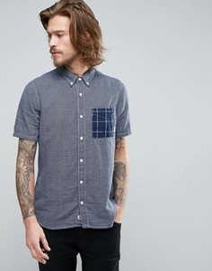Синяя клетчатая рубашка с короткими рукавами Element Dale - Синий