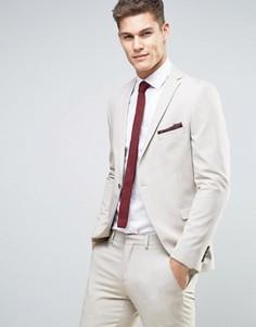 Облегающий пиджак Selected Homme Wedding - Stone