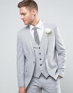 Облегающий пиджак Selected Homme Wedding - Серый