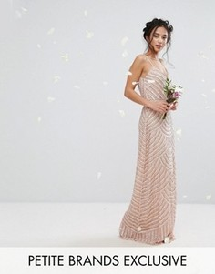 Платье макси на бретелях с отделкой Maya Petite - Розовый