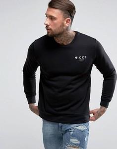 Черный свитшот с логотипом Nicce London - Черный