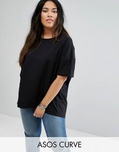 Свободная футболка ASOS CURVE - Черный