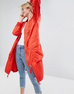 Удлиненная ветровка Monki - Красный