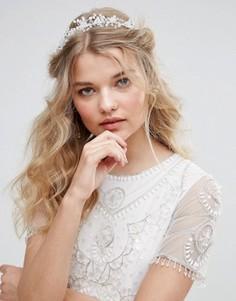 Обруч для волос с цветами Love Rocks - Серебряный