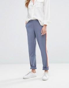 Зауженные брюки в университетском стиле Vila - Серый