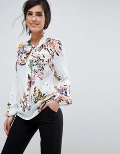 Рубашка с цветочным принтом Closet London - Мульти